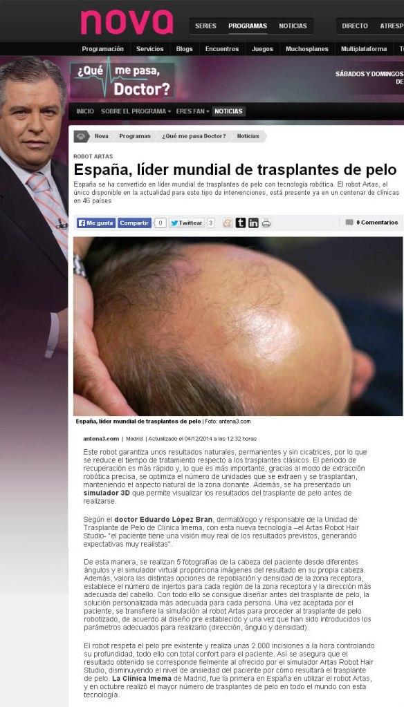 Antena 3 Imema Lopez bran