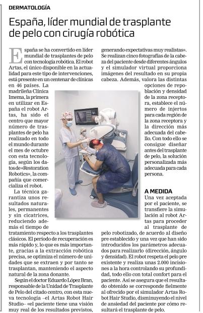 Noticia publicada en La Razón