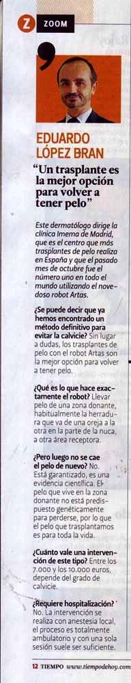Revista tiempo Imema Lopez bran