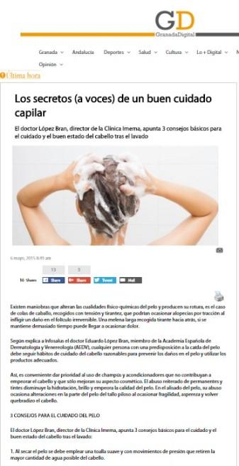 Granada digital Dr. Lopez Bran Consejos para cuidado del pelo