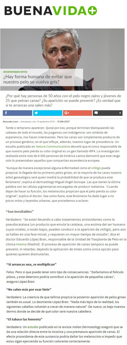 Mitos sobre las canas Eduardo Lopez Bran
