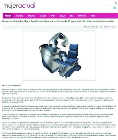 mujer actual Dr Lopez Bran robot artas ok