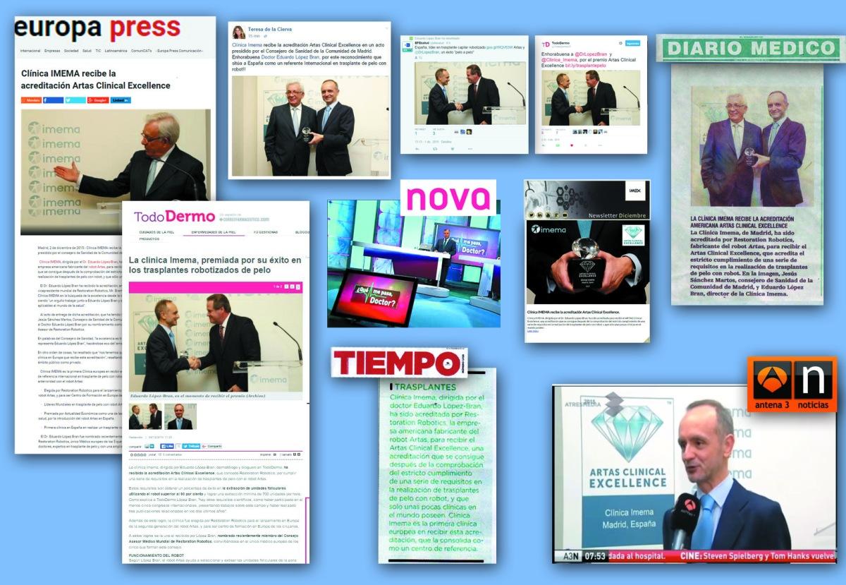 artas clinical Excellence recibido por clinica Imema
