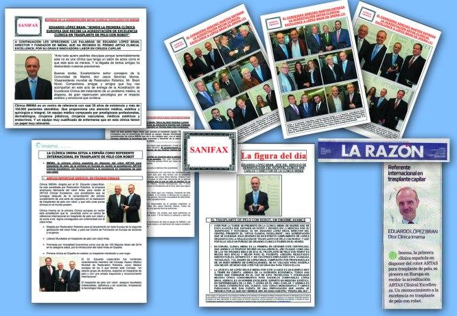 Artas clinical Excellence Clinica Imema Dr. López Bran aparciiones en medios