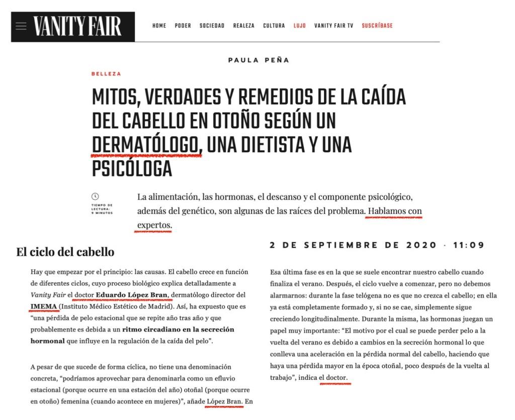 Clínica IMEMA - Eduardo López Bran - Caída - Vanity Fair